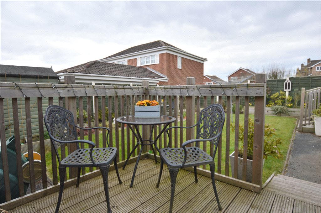 Property for sale in Wakefield, back garden, garden furniture