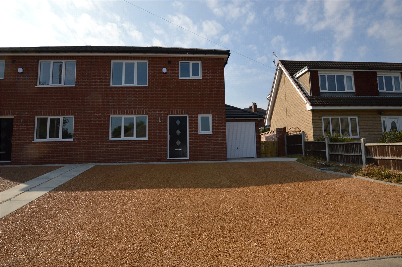 Property for sale in Rothwell, new build, home exterior red brick