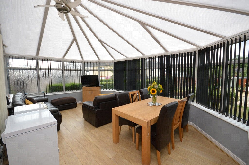 property for sale in horsofrth, conservatory dining area