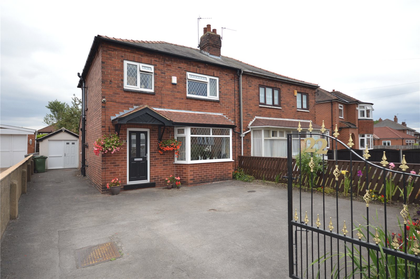 Property for sale in Beeston, exterior of home red brick