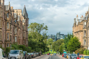 View of Marchmont Road, Edinburgh, Midlothian, EH9