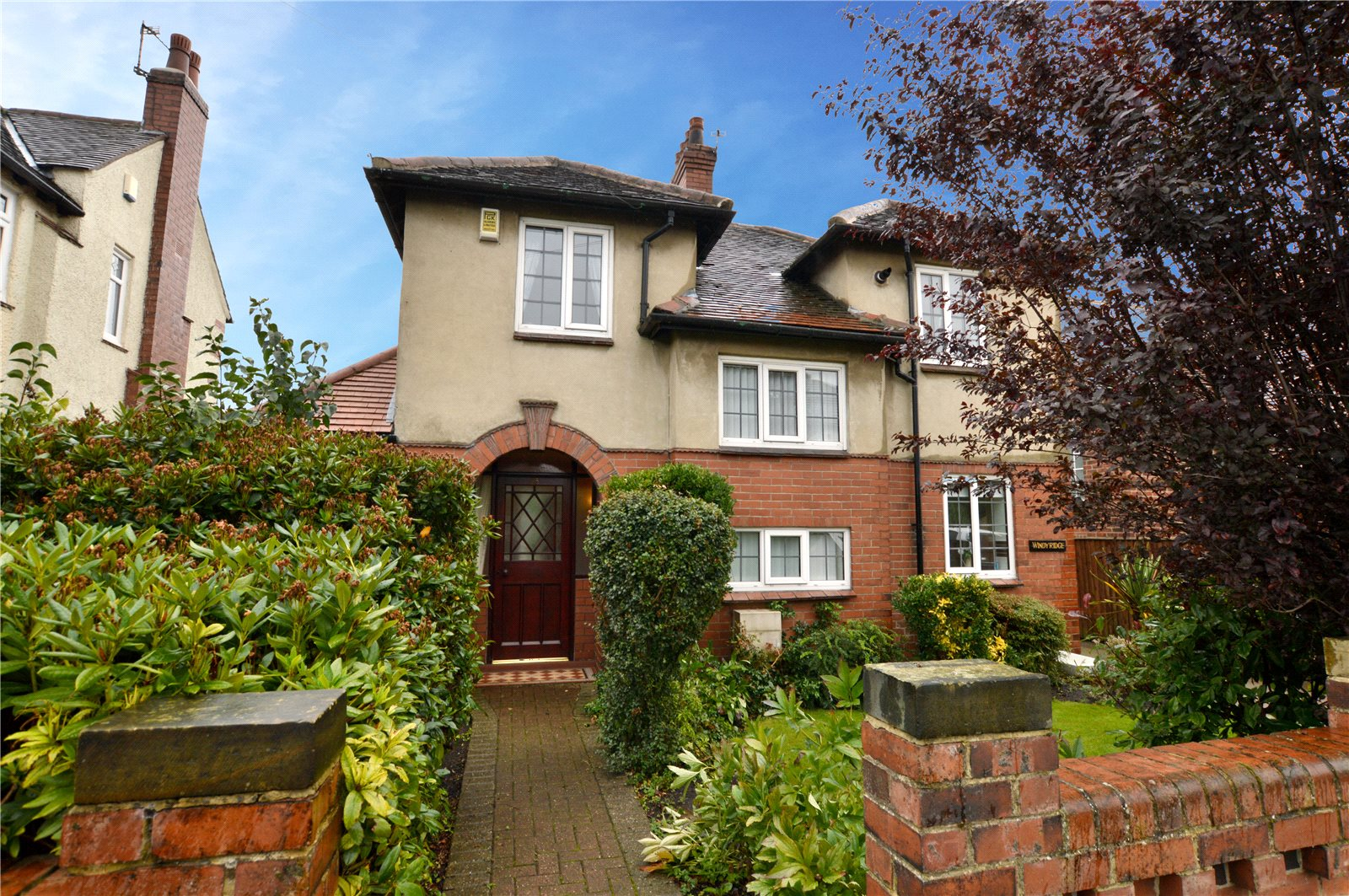 property for sale in Pudsey, exterior of property half red brick half cladding