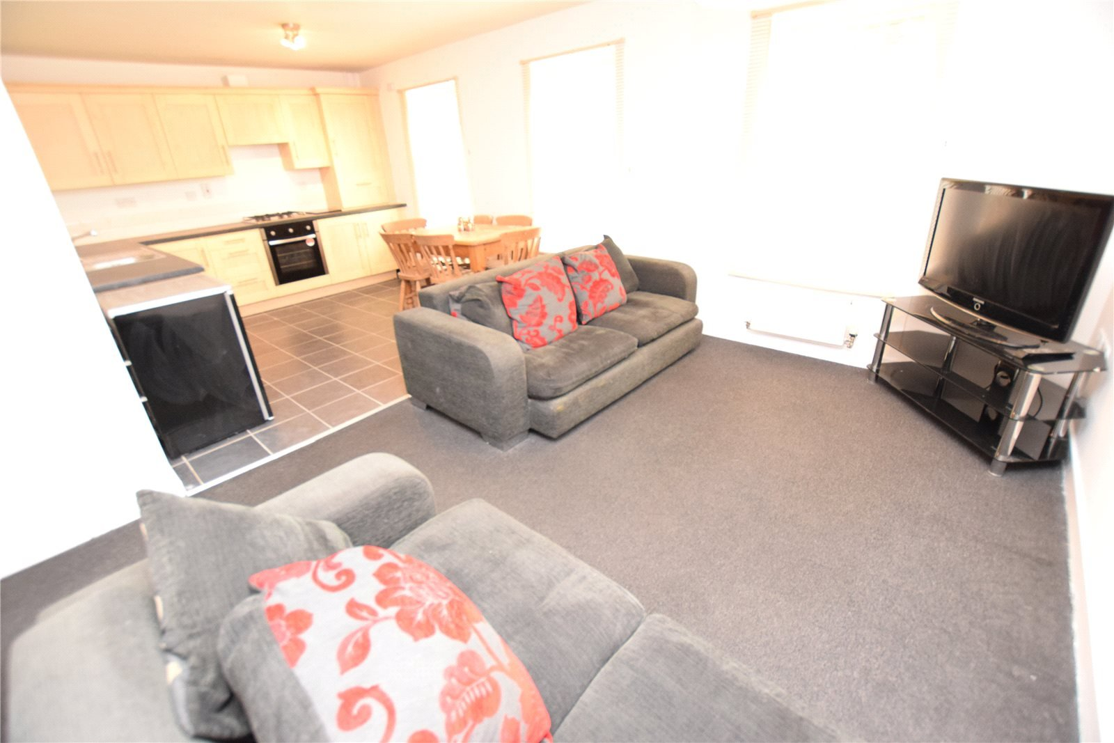 Property for sale in Wortley, interior living room and open plan kitchen