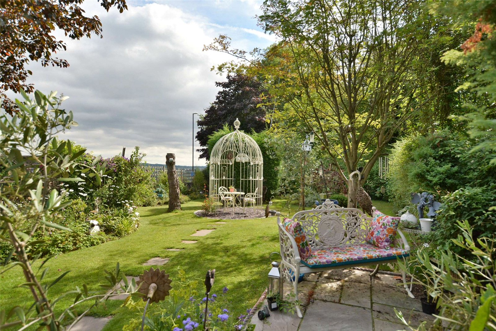 property for sale in Horsforth, exterior rear garden