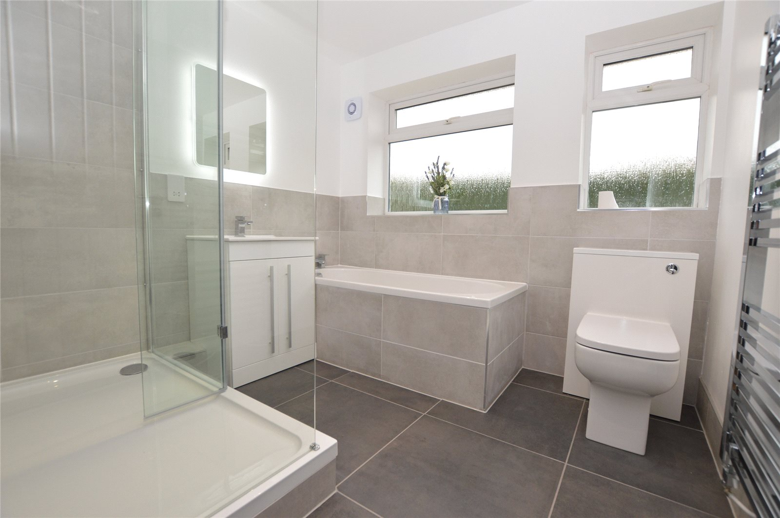 property for sale in Garforth, interior fitted modern bathroom