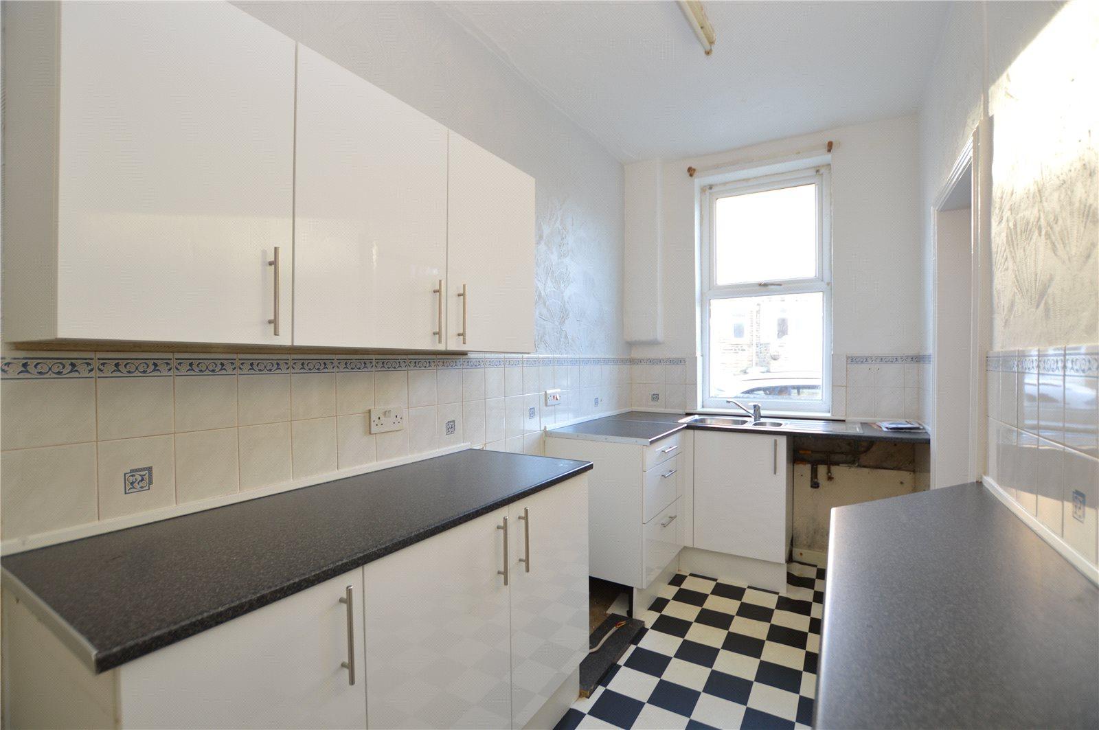 Property for sale in Morley, interior kitchen White tiled floor