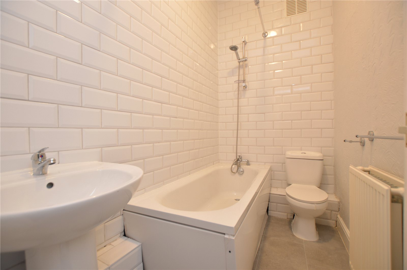 property for sale in Morley, interior whit bathroom suite