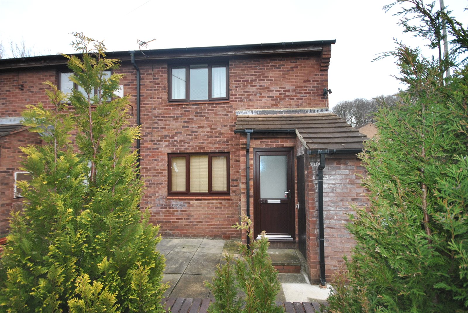 Property for sale in Adel, ideal investment property. Outside red brick end terrace