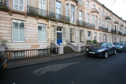 View of Buckingham Terrace, Botanics, G12