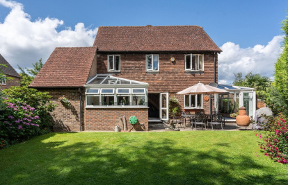 Close to everything Brockham offers with a delightful garden and garage