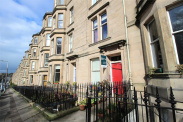 View of Comely Bank Avenue, Edinburgh, Midlothian, EH4