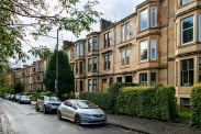 View of Hayburn Crescent, Partickhill, Glasgow, G11