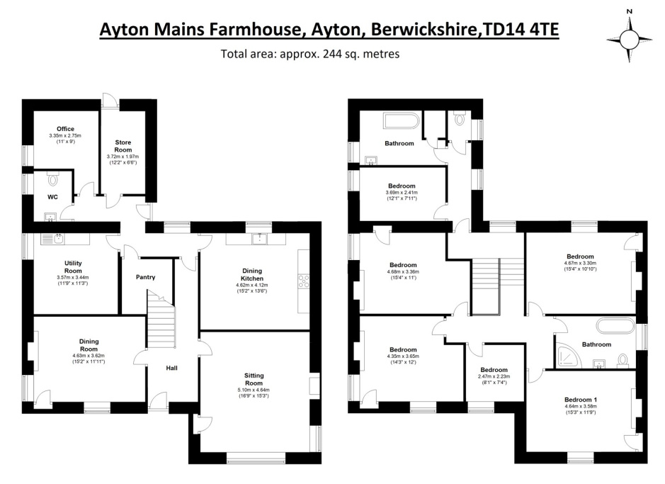 Image 24 of Ayton Mains Farmhouse, Ayton, Eyemouth, TD14