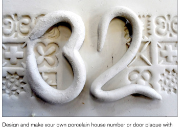 Design and make your own porcelain house number