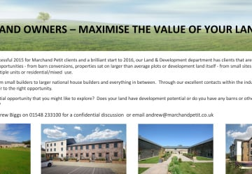 Land owners - maximise the value of your land