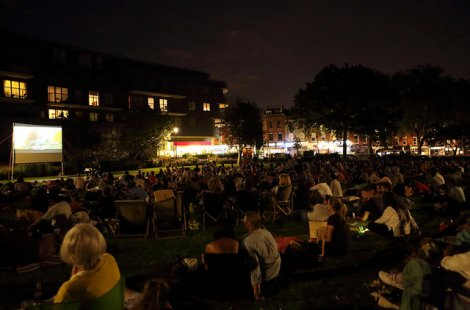 Open Air Cinema in West Hampstead