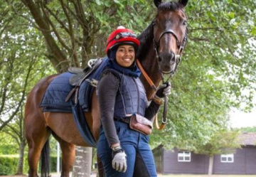 First past the post! Inspiring tale of hijab-wearing jockey Khadijah …from Brixton!