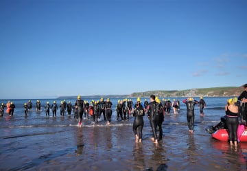 Swimmers take to the water in support of men's health